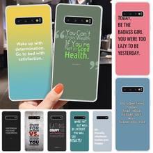 Quote Slogan Custom Photo Soft Phone Case For Samsung S6 S7 S7 edge S8 S8 Plus S9 S9 Plus S10 S10 plus S10 E(lite)