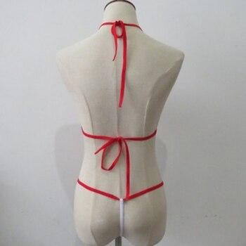 Women Mini Swimsuit Bikini Set Micro Halter Neck Bra Thong Beach Swimming Suit IK88 1