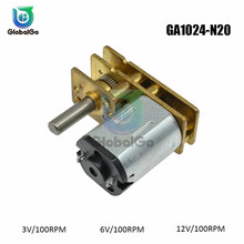 100RPM DC Geared Motor DC 3V DC 6V DC 12V GA1024-N20 DIY Toys Smart Car Electric Gear Motor цена и фото