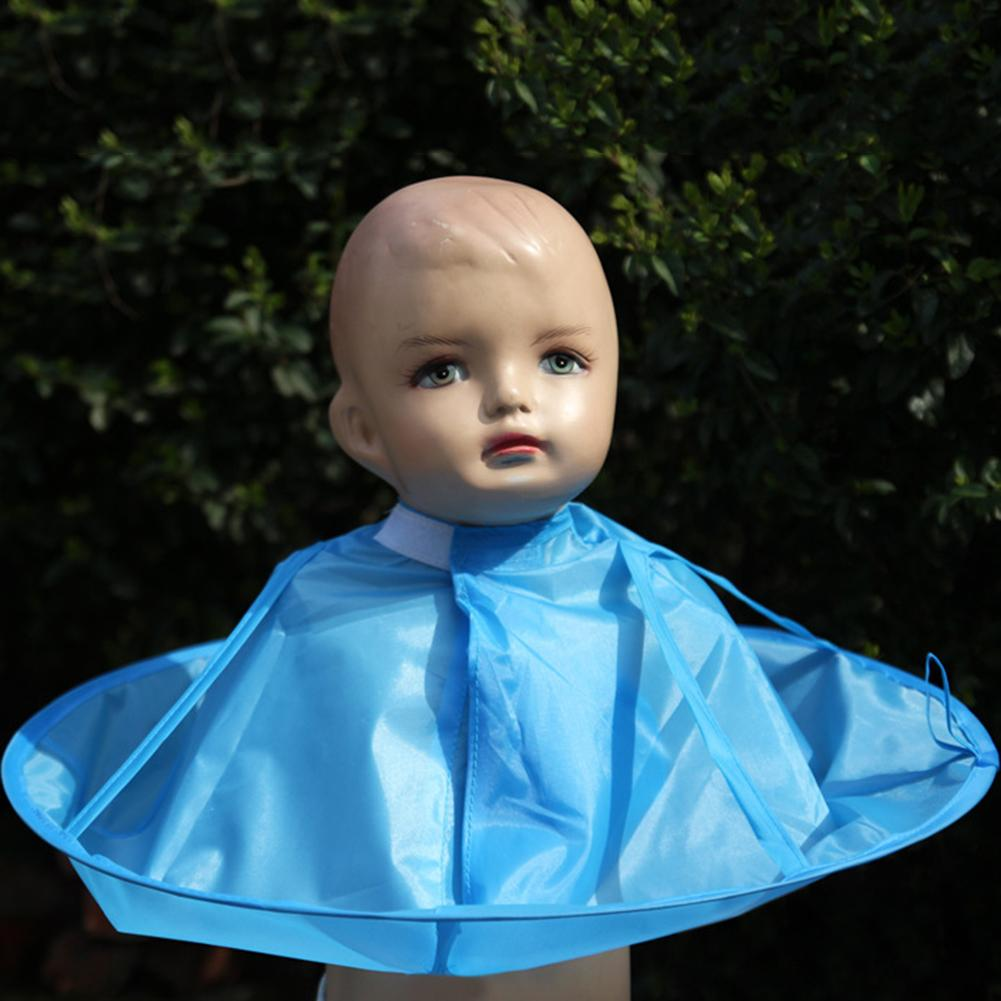 Baby Kids Children Haircut Catcher Apron Cape Hairdresser Barber Haircut Umbrella High-end Hair Clipper Gift Blue Color