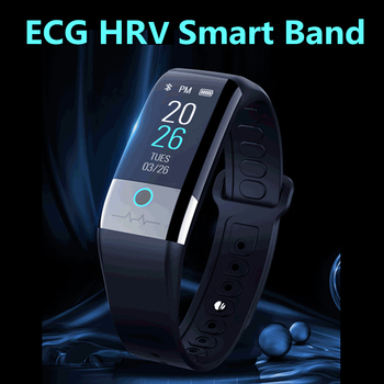 ECG PPG HRV Smart Band Heart Rate Blood Pressure Monitor Fitness Bracelet Sports Activity Tracker Pedometer Waterproof Wristband
