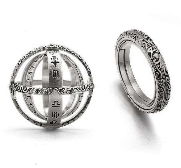 16th Century Astronomical Ring Ball Cosmic Engagement Rings Couple Lover Open And Merge Ring Unfolds Into Astronomical Sphere