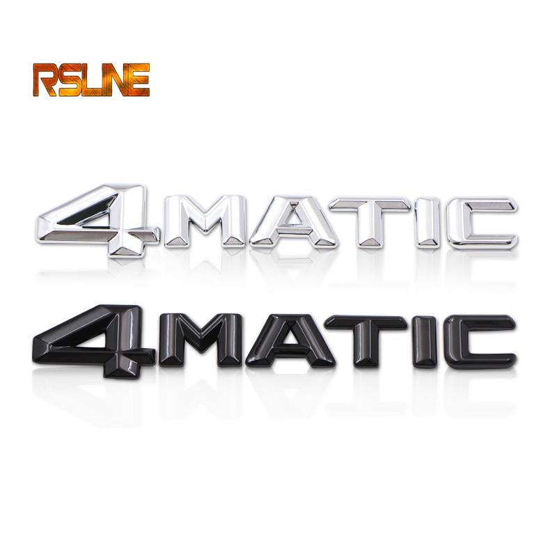 1 PCS 3D Metal Soarhorse 3D Metal 4Matic Logo Sticker  For Mercedes Benz ML GLK W124 W210 C CL 4 Matic Emblem Badge Sticker