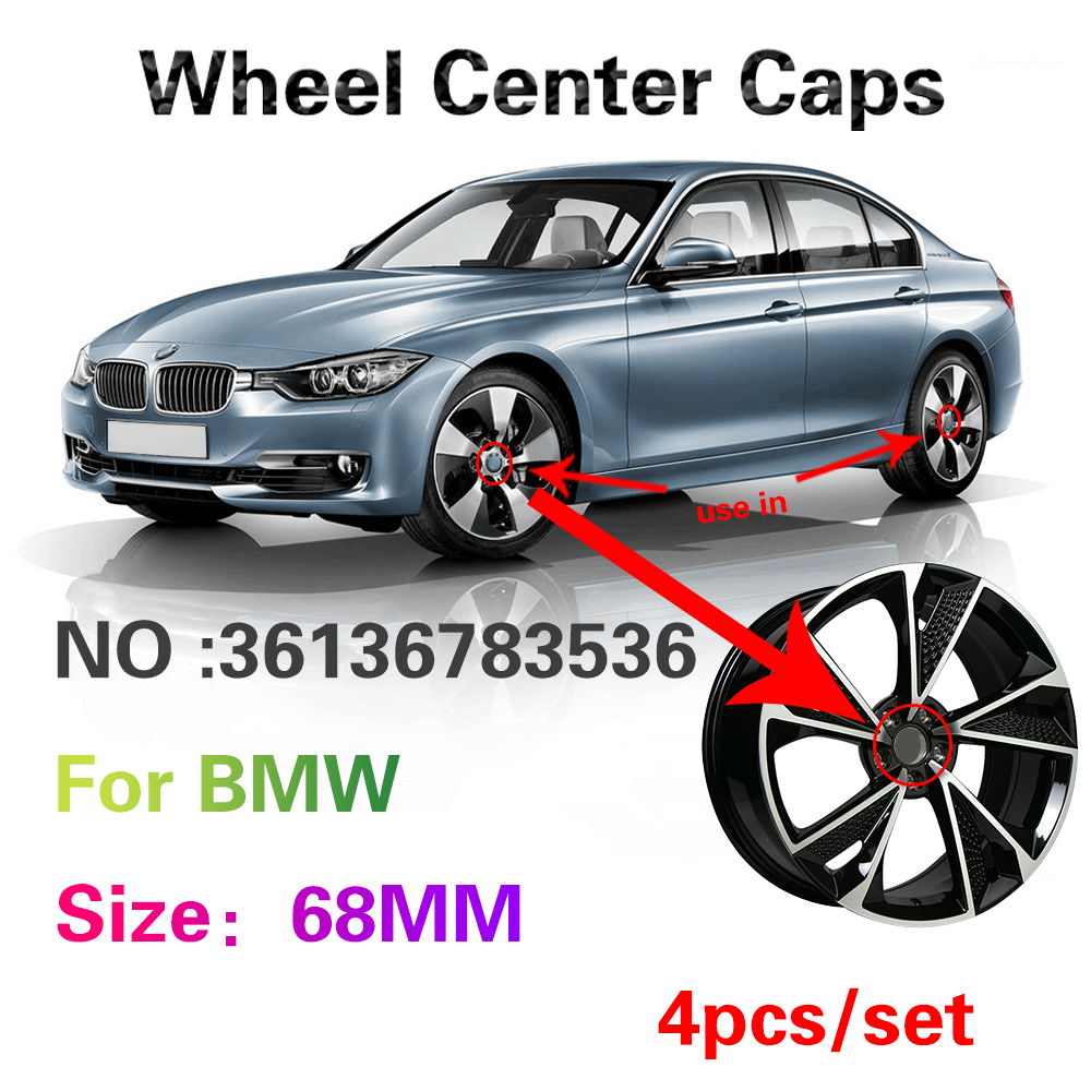 4X 68mm Car Wheel Center Hub Cap Accessories For BMW E46 E39 E38 E90 E60 E36 E34 F10 F20 F30 E92 E91 E30 X5 E53 E70 E87 Serie 1 image