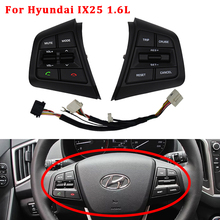 Steering Wheel Button For Hyundai CRETA 1.6 L IX25 Trip Cruise Control Phone Bluetooth Remote Audio Switch Left Right Buttons high quality new bluetooth steering wheel audio control mode cruise switch for navara frontier xterra pathfinder 84250h
