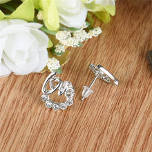 1 Pair Women Elegant Crystal Rhinestone Ear Stud Earrings New Delicate Earings Fashion Jewelry Aretes De Mujer Modernos 2019(China)