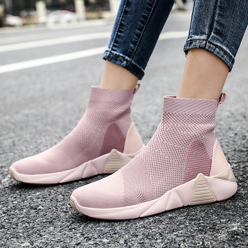 Ultralight Socks Sneakers Women Breathable Soft Running Shoes Men Outdoor Non-slip Comfortable Sports Walking Shoes Casual Flats