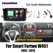 Автомобильный мультимедийный плеер, Android для Smart Fortwo W451 2007 ~ 2014, радио, стерео аксессуары, Видео, карта, GPS навигация, без DVD