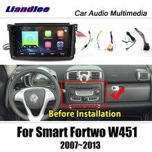 Multimídia automotivo, multimídia player android para smart fortwo w451 2007 ~ 2014 rádio, estéreo, mapa de navegação gps dvd