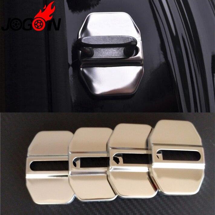 Accessories Stainless Steel Door Lock Buckle Striker Cover Sticker For Benz C117 W176 W246 W204 W212 W218 Car Styling
