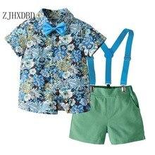Clothing Baby Dress Wedding-Costume Children's Summer Shirt Shorts Strap Vacation Hawaii