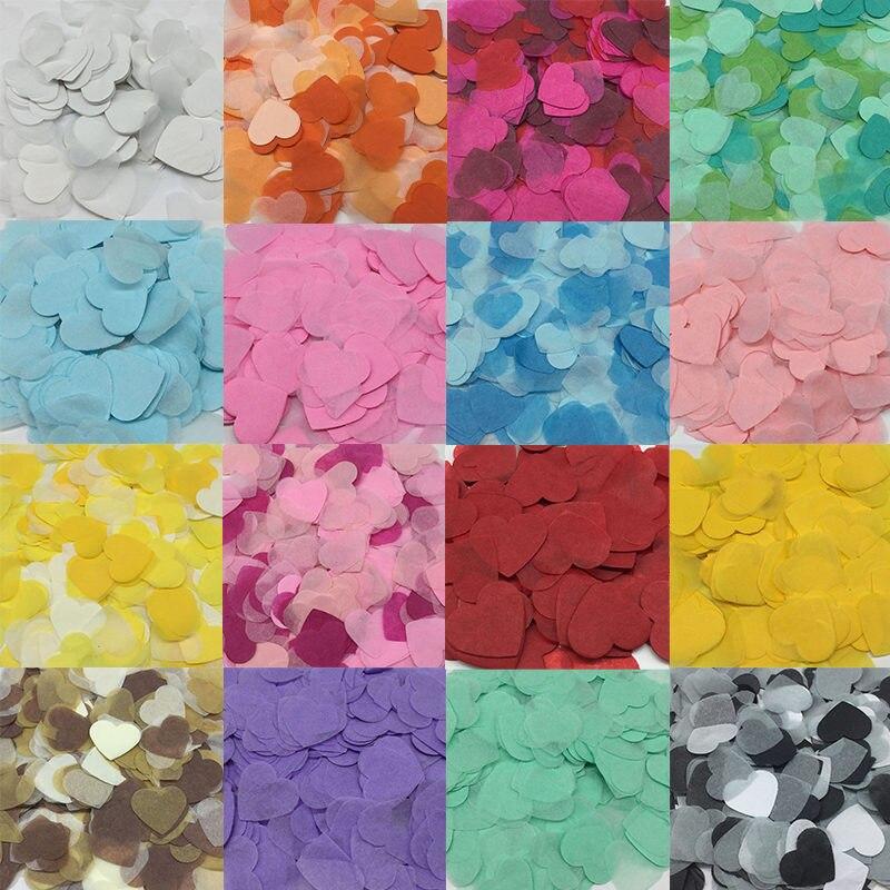10 г/упак., 2,5 см, Рождественская разноцветная конфетти в форме сердца, персиковая тканевая бумага для украшения свадебного стола, вечерние ук...