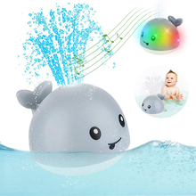 Baby Bath Toys Spray Water Shower Swim Pool Bathing Toys for Kids Electric Whale Bath Ball with Light Music LED Light Toys Gift