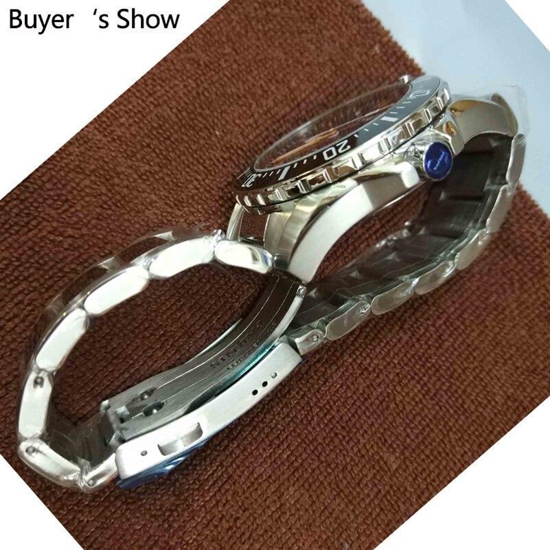 Parnis Automatische Diver Horloge Waterdicht 200 M Metalen Mechanische Mannen Horloges Saffier Glas Lichtgevende - 4