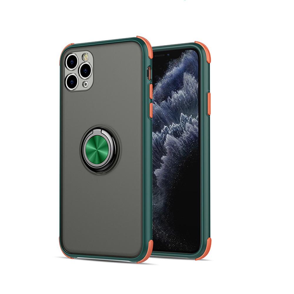 Matte Magnetic Phone Case For Apple iPhone X XR XS 11 Pro Max 8 7 6S 6 Plus Case Ring Adsorption Cover Camera Protective Cases image