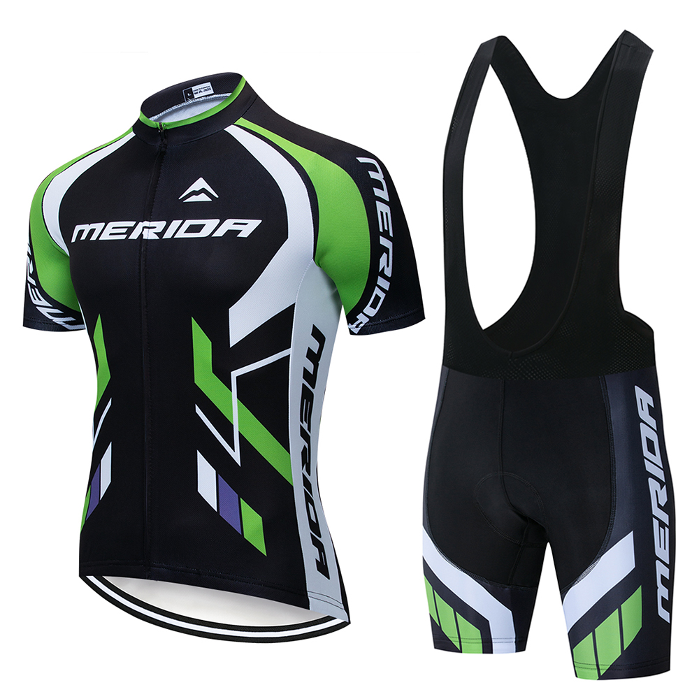 2020 Team MERIDAING Cycling Jerseys Bike Clothes Wear Quick-dry Bib Gel Sets Wear Clothes Ropa Ciclismo Uniformes Maillot Sport