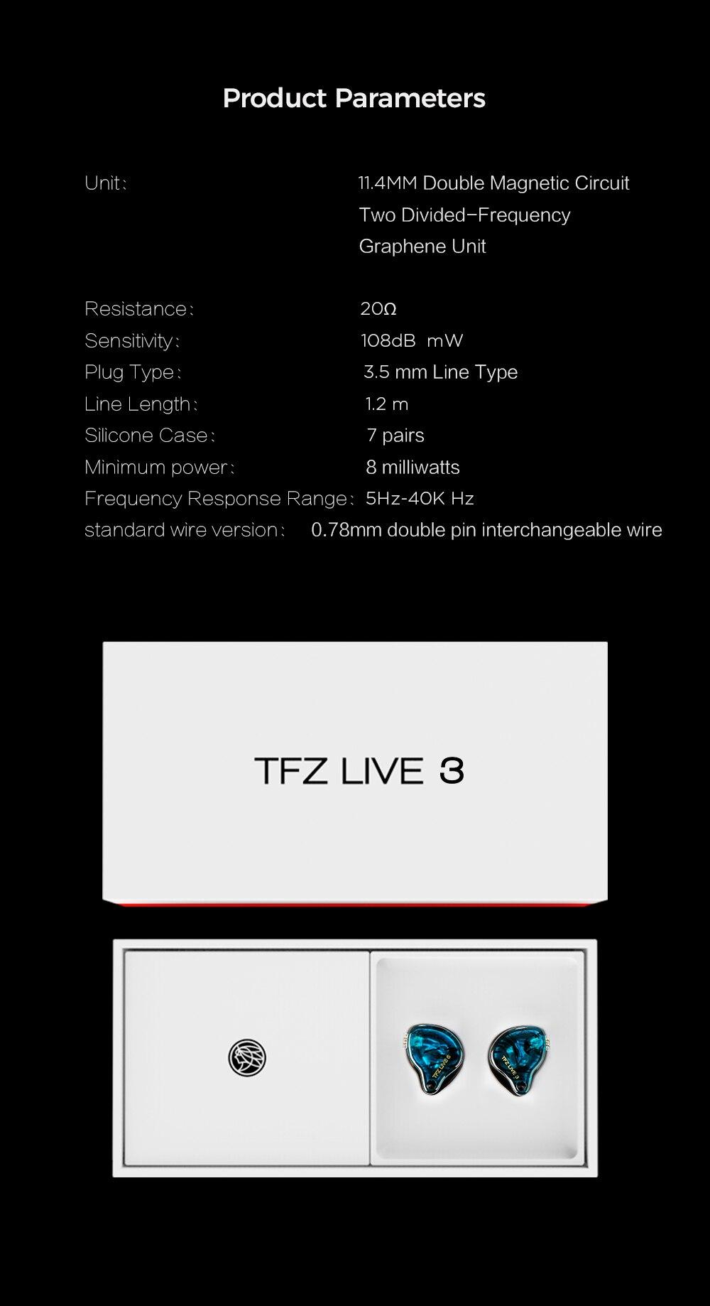 grafeno driver dinâmico 2pin 0.78mm de alta