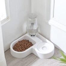 Bacia do gato do animal de estimação para o alimento do cão alimentador automático tigelas cães alimentando beber fonte 500ml waterer gatinho alimentador lento filhote de cachorro