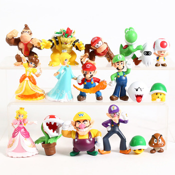 Figuras de Super Mario Bros, Mario, Luigi, toad, Bowser, Yoshi, Peach, Daisy,...