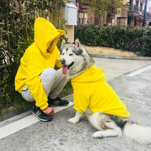 Dog Costume Jacket Pet-Matching-Clothes Winter Hoodie Coat Pets Perro Labrador Warm Clothing-For-Dogs