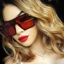 New Fashion Sunglasses Brand Design Oversized Flat