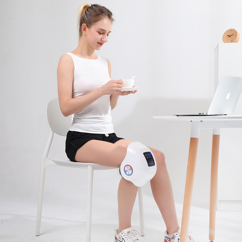 Home Use Rechargeable Knee Vibrator Far Infrared Heating Knee Pain Relief Care Massager with Airbag Pressure Kneading