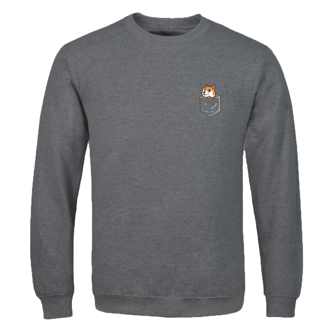 Spring Autumn Trend Pocket Dog Print Clothings Men Casual Brand Man Fleece Casual Pullovers Clothing Sweatshirt 2020 Sportswear
