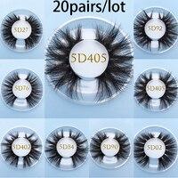 MIKIWI Custom square box 5D real Mink lashes 20pairs/lot Natural Soft Dramatic Makeup Eyelash Extention resuable popular lashes