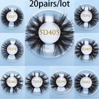 MIKIWI Custom square box 5D real Mink lashes 20pairs/lot Natural Soft Dramatic Makeup Eyelash Extention resuable popular lashes
