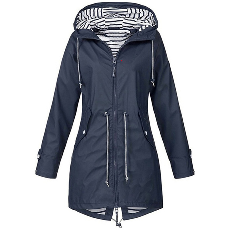 Hdd09bc81bd294d8da94477f8b7894291Y Women Jacket Coat Waterproof Windproof Transition Hooded Jackets Outdoor Hiking Clothes Outerwear Women's Lightweight Raincoat