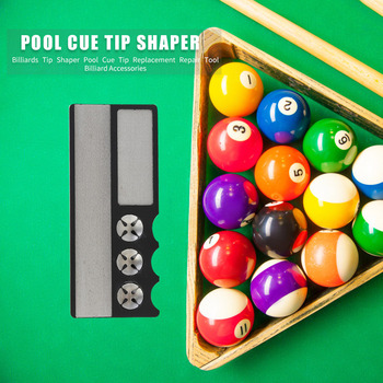 Black Pool Cue Tip Tool Trimmer//Smoother//Scuffer Shaper For Billiards Snooker