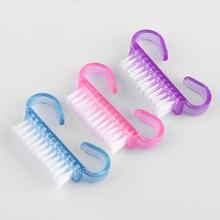 Manicure-Tools Scrubbing-Brush Nail Portable Plastic 1PCS Beauty Hot-Sale