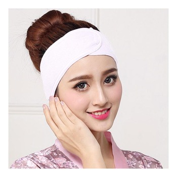 Adjustable Shower Cap Wide Toweling Hair Wrap Stretch Salon SPA Facial Headband Make Up Accessories image
