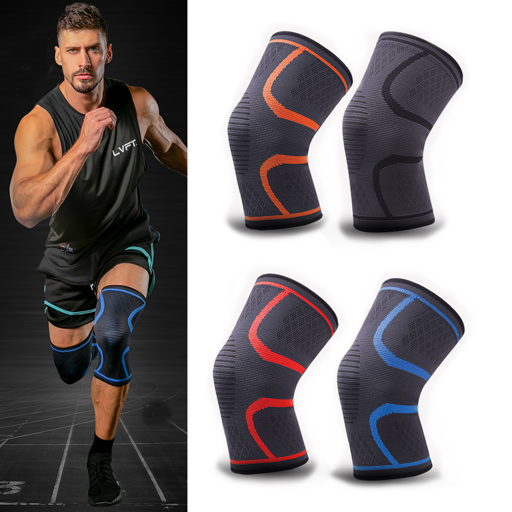 Sports Kneepad Men Pressurized Elastic Knee Pads Support Fitness Gear Basketball Volleyball Knee Brace Protector 1 Piece