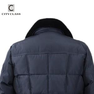 Image 4 - CITY classe affaires Parkas veste hiver manteaux chauds col en fourrure de vison amovible Super chaud nouvelle mode vestes décontractée haut