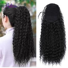 "Blice sintético afro kinky curly cabelo rabo de cavalo 18 ""cordão extensões de rabo de cavalo hairpieces com dois pentes de plástico"