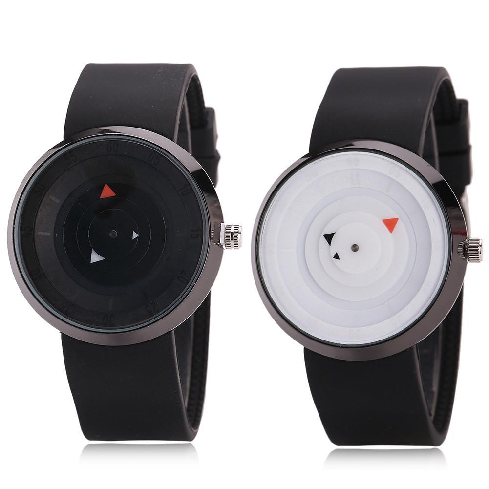 Fashion Couple Watches Top Brand Wrist Watch Minimalist Thin Round Dial Silicone Band Analog Adjustable Quartz Zegarek Damski
