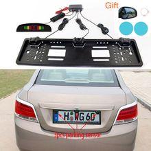 Equipment de sensores de aparcamiento de coche Radar de Inversión automática placa de matrícula europea cámara frontal Trasera Sistema de Observe electromagnético Three sensores