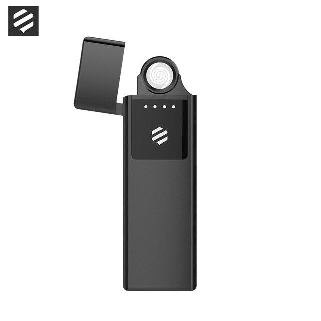 Beebest USB Lade Ultra dünne leichter Touch Schalter Elektronische Leichter Winddicht Flammenlose Elektronische Feuerzeuge Aufladen