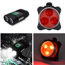 WOSAWE Bicycle Lights Rear Tail Sets Waterproof Headlights Built-in Battery USB Rechargeable Bike Front Led Lamp Taillights Kit