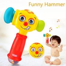 Для ребенка ясельного возраста; Игрушки для раннего развития детей игрушечный молоток игрушка с светомузыкальный проектор Игрушки для малышей погремушка Обучающие, музыкальные игрушки подарок