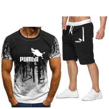 Modne spodenki męskie 2020 lato 2pc dres krótka bluza + zestawy z krótkimi spodenkami męska koszulka Casual koszule zestaw odzieży sportowej
