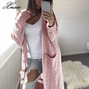 Women Long Cardigan Sweater Top Long Sleeve loose knitting cardigan sweater Women Knitted Female Cardigan pull femme cardigan 1701500 83