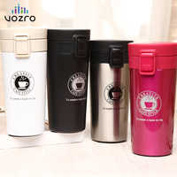 VOZRO Advanced Travel Coffee Cup Stainless Steel Thermos Tumbler Cup Vacuum My Drink Bottle . Thermos Water Cup Hot Water Bottle