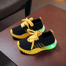 Buy Children Shoes New Fashion Kid Cute Baby Girls Boys Candy Color Led Luminous Sport Run Sneakers Shoes directly from merchant!
