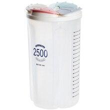 Рис бобы Stoarge банку с прокладка крышки 4 без рукавов в клеточку холодильник Еда сохранение контейнер Пластик Кухня ящик для хранения# YL10