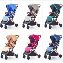 ILcomun Baby Stroller Foldable Baby Buggy Car Travelling Pram Can Sit Lie Children Pushchair On Airplane Lager Shopping Basket