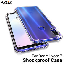 PZOZ Voor Xiao mi rode Mi note 7 8 case cover Siliconen Shockproof Red Mi 7 note 7 8 Pro transparante Beschermende Xio mi mi 9t K20 CASE(China)