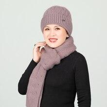 Женская шапка шляп и шарфов для девушек женская обувь с шерстяной