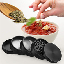 Black Big Tall Herb Grinder 4 Layer Weed 55mm Tobacco Wiet Shredder Crusher for Cannabis Spices Cocoa Beans